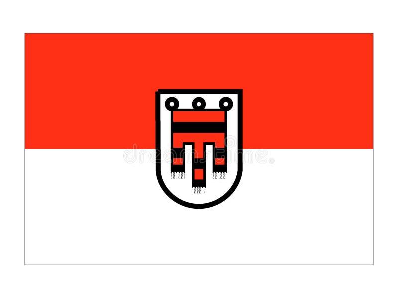 Bandera del estado austríaco de Vorarlberg ilustración del vector