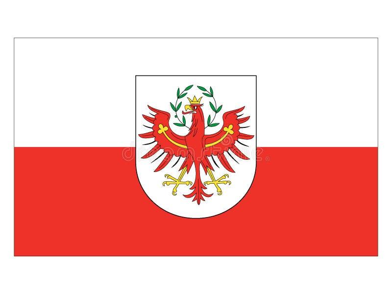 Bandera del estado austríaco del Tyrol stock de ilustración