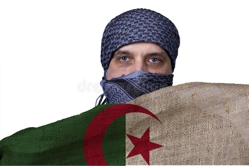 Bandera del estado de Argelia fotografía de archivo