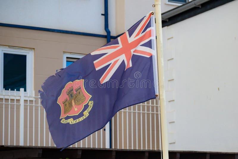 Bandera del estado de Gibraltar fotografía de archivo