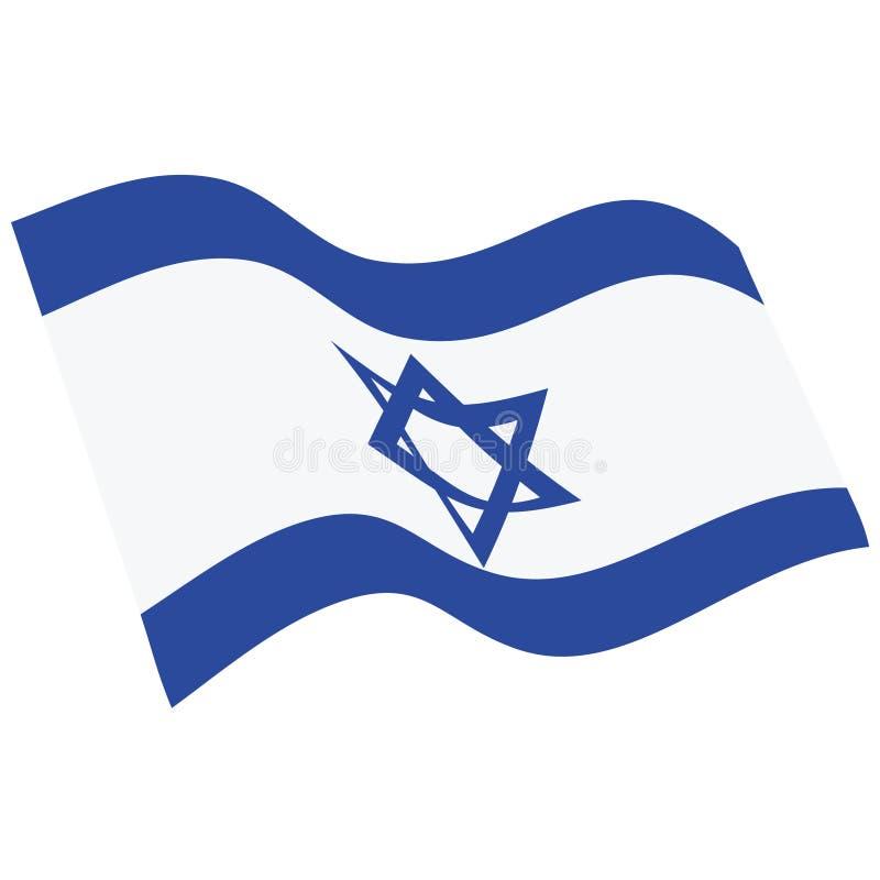 Bandera del estado de Israel stock de ilustración