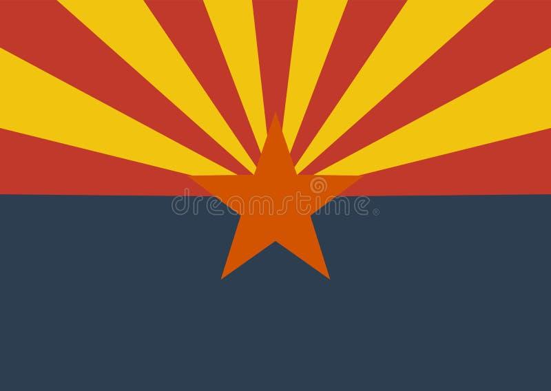 Bandera del estado de los E.E.U.U. de Arizona libre illustration