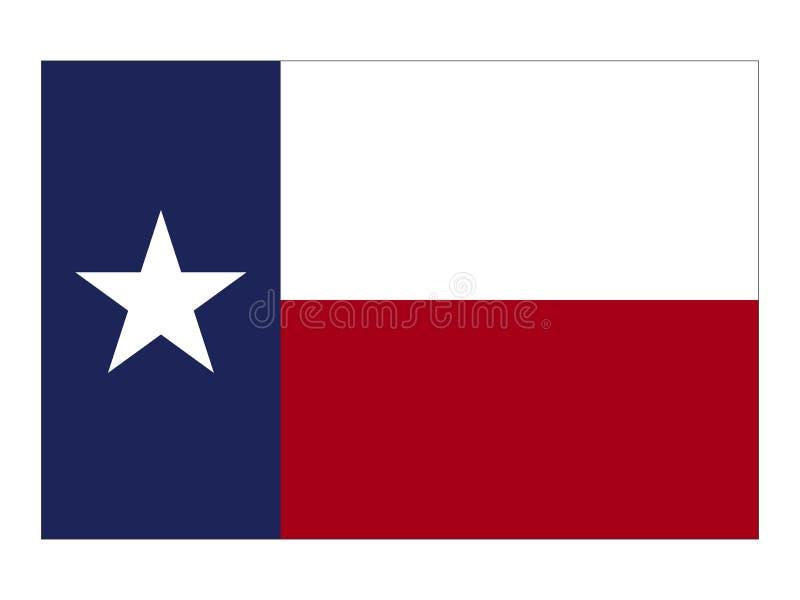 Bandera del estado de los E.E.U.U. de Tejas ilustración del vector