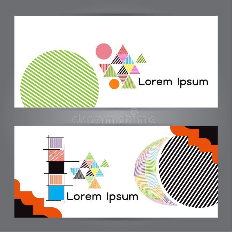 Bandera del extracto del polígono de la geometría del polígono del ejemplo del vector stock de ilustración