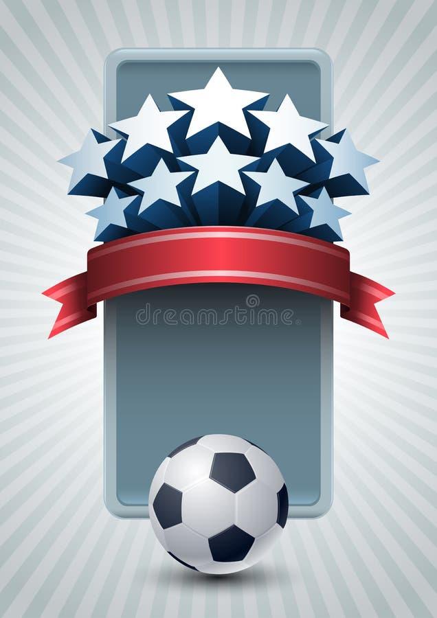 Bandera del fútbol del campeonato stock de ilustración