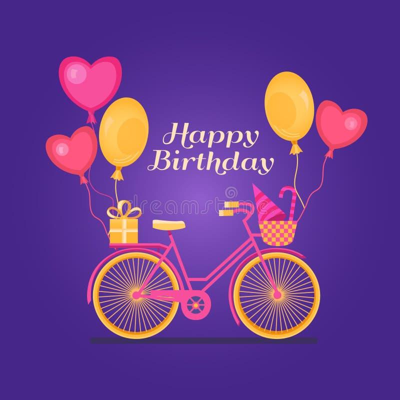 Bandera del feliz cumpleaños ilustración del vector
