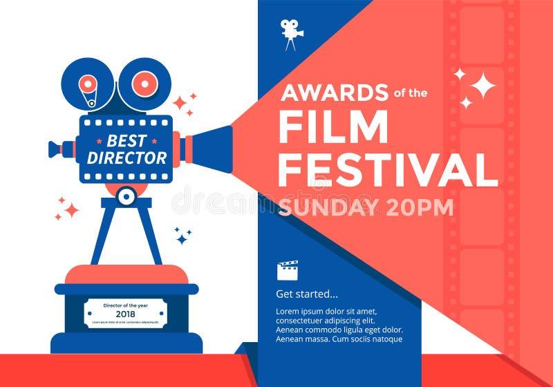 Bandera del festival del cine libre illustration