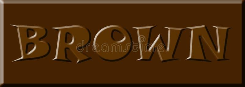 Bandera del fondo de la imagen del diseño del ejemplo de la palabra de la fuente de la letra del color de Brown libre illustration