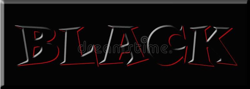 Bandera del fondo de la imagen del diseño del ejemplo de la palabra de la fuente de la letra negra ilustración del vector