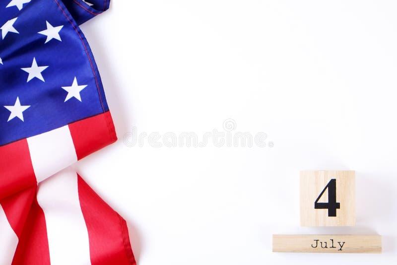 Bandera del fondo de los Estados Unidos de América para la celebración federal nacional del día de fiesta del Día de la Independe imagenes de archivo