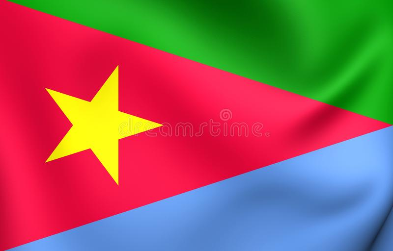 Bandera del frente de la liberación del ` s de la gente del Eritrean stock de ilustración