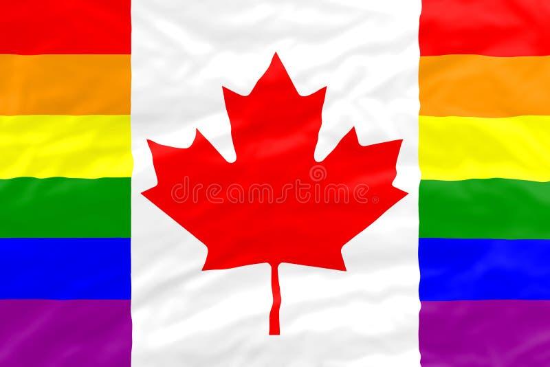 Bandera del gay de Canadá ilustración del vector