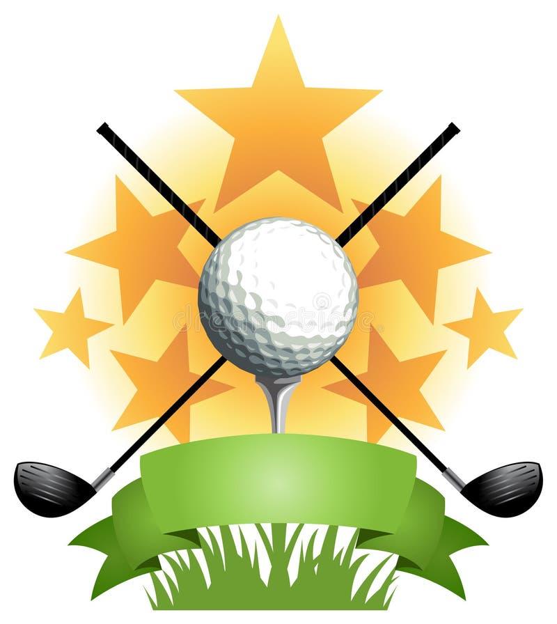 Bandera del golf stock de ilustración