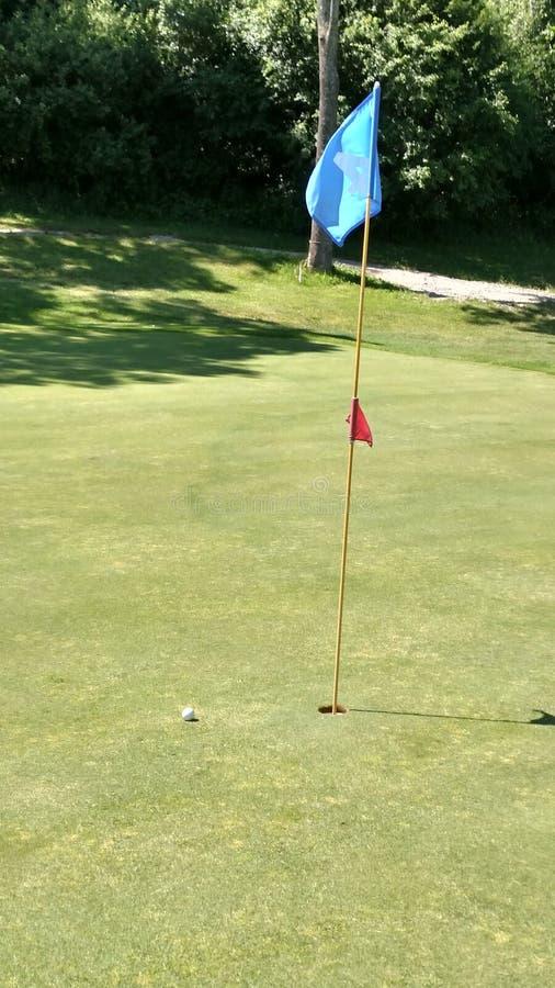 Bandera del golf fotografía de archivo libre de regalías