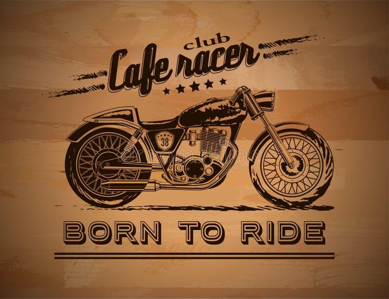 Bandera del gráfico de la motocicleta ilustración del vector