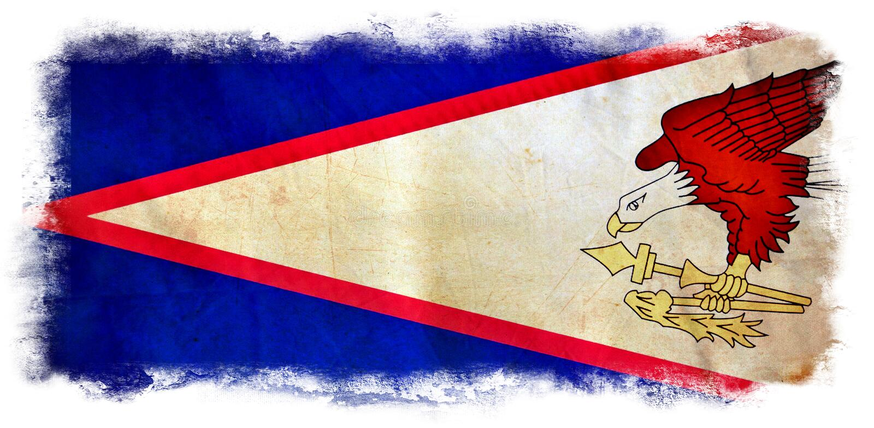Bandera del grunge de American Samoa fotos de archivo