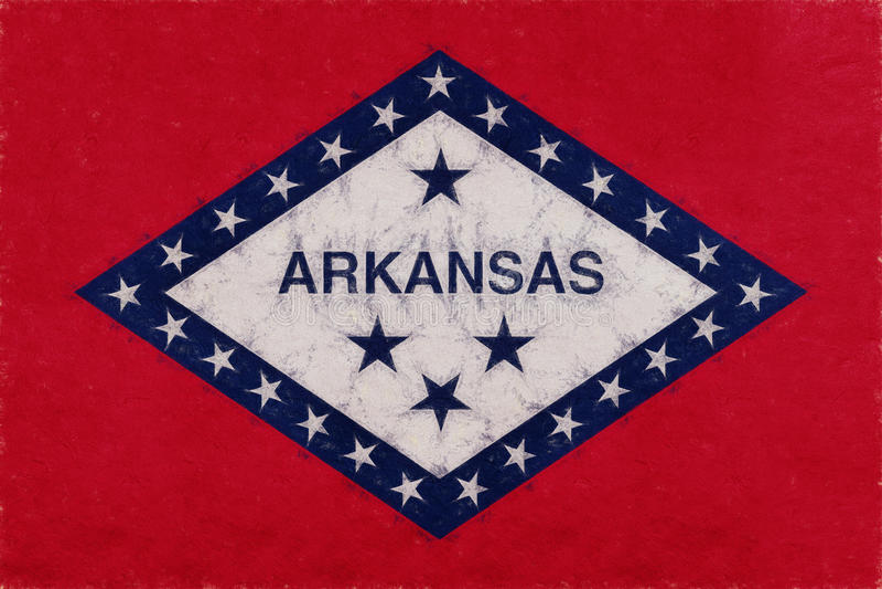 Bandera del Grunge de Arkansas stock de ilustración