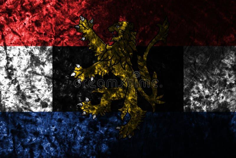 Bandera del grunge de Benelux en la pared sucia vieja, unión politico-económica de Bélgica, inferior ilustración del vector