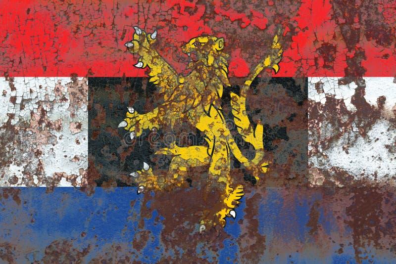 Bandera del grunge de Benelux, unión politico-económica de Bélgica, Nethe imágenes de archivo libres de regalías