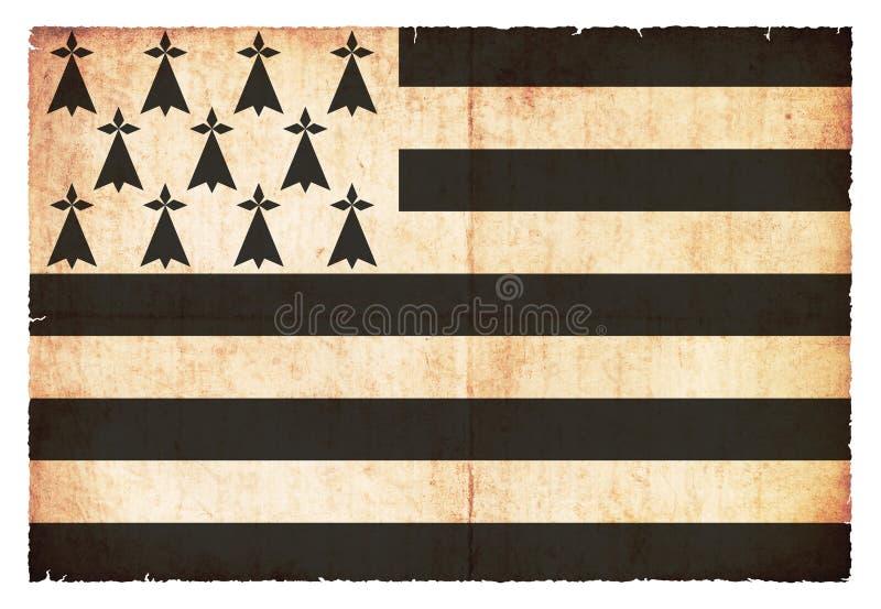 Bandera del Grunge de Brittany France fotos de archivo libres de regalías