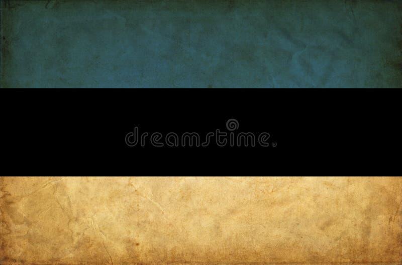Bandera del grunge de Estonia libre illustration