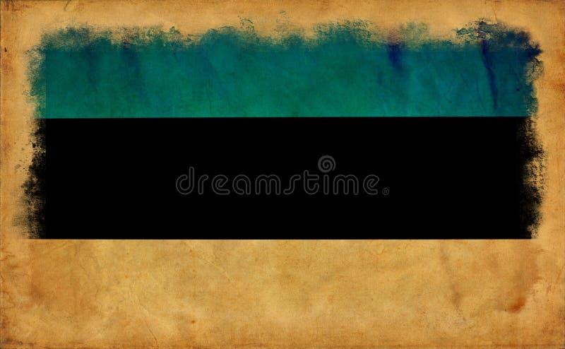 Bandera del grunge de Estonia ilustración del vector