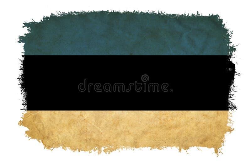 Bandera del grunge de Estonia stock de ilustración