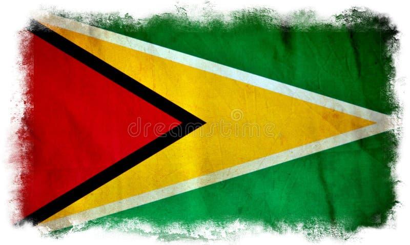 Bandera del grunge de Guyana libre illustration