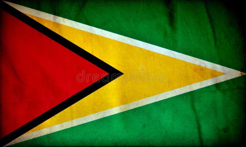 Bandera del grunge de Guyana ilustración del vector