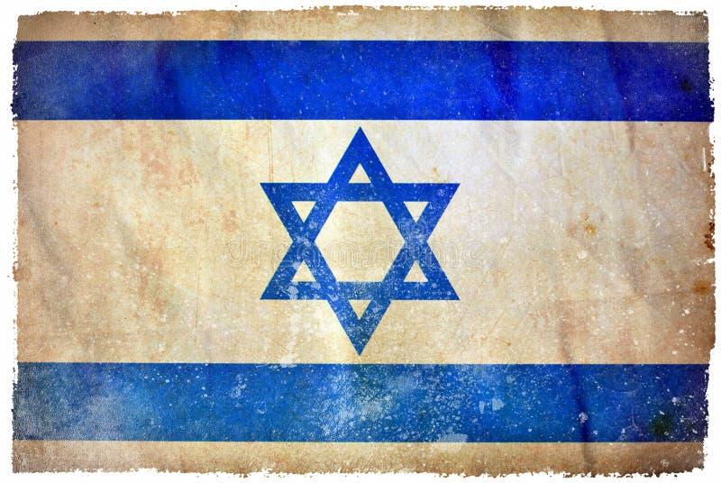 Bandera del grunge de Israel ilustración del vector