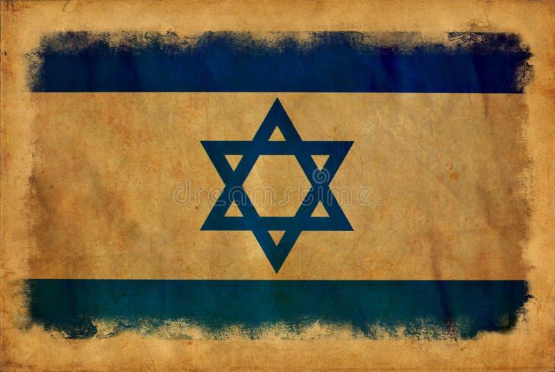 Bandera del grunge de Israel stock de ilustración