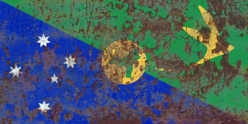 Bandera del grunge de la Isla de Navidad, bandera dependiente del territorio de Australia fotos de archivo