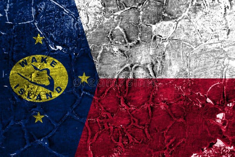 Bandera del grunge de la isla Wake, bandera dependiente del territorio de Estados Unidos libre illustration