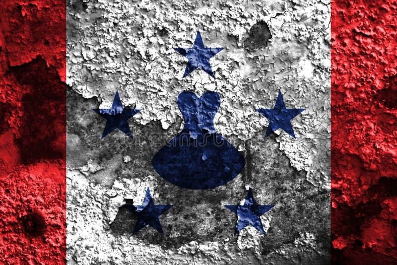 Bandera del grunge de las islas australes, islas en Polinesia francesa stock de ilustración