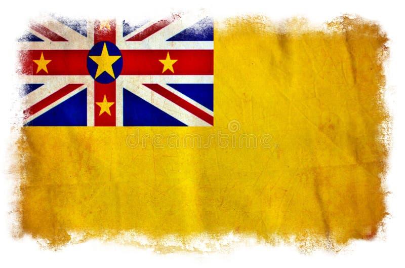 Bandera del grunge de Niue fotografía de archivo libre de regalías