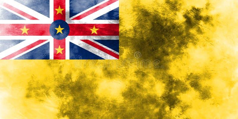 Bandera del grunge de Niue, nueva bandera dependiente del territorio de Zaeland stock de ilustración