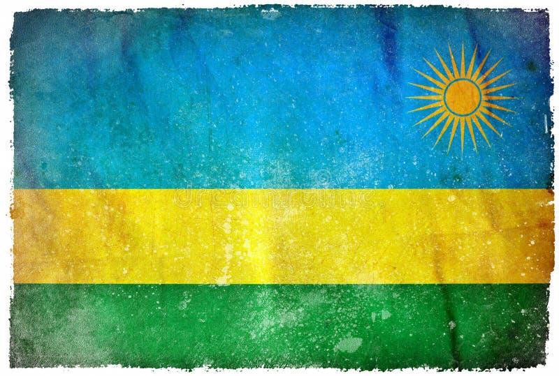 Bandera del grunge de Rwanda fotografía de archivo