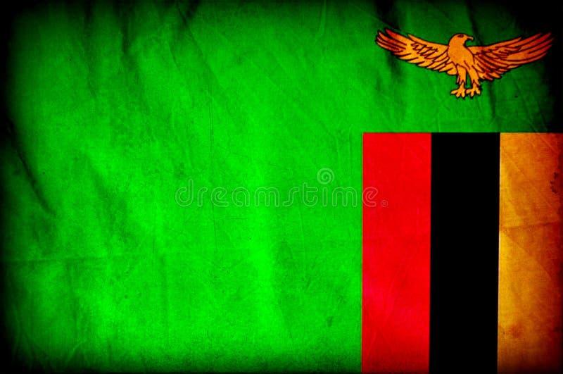 Bandera del Grunge de Zambia stock de ilustración