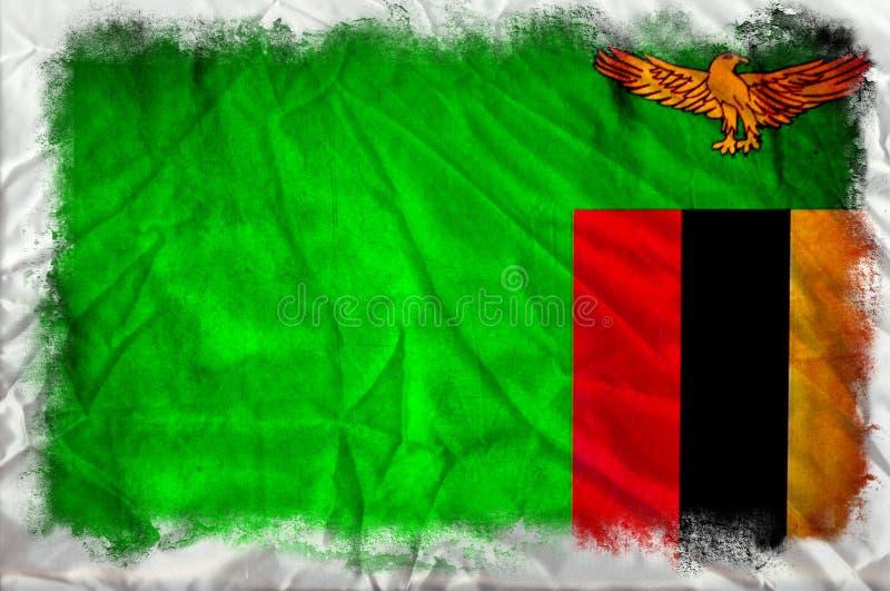 Bandera del Grunge de Zambia ilustración del vector