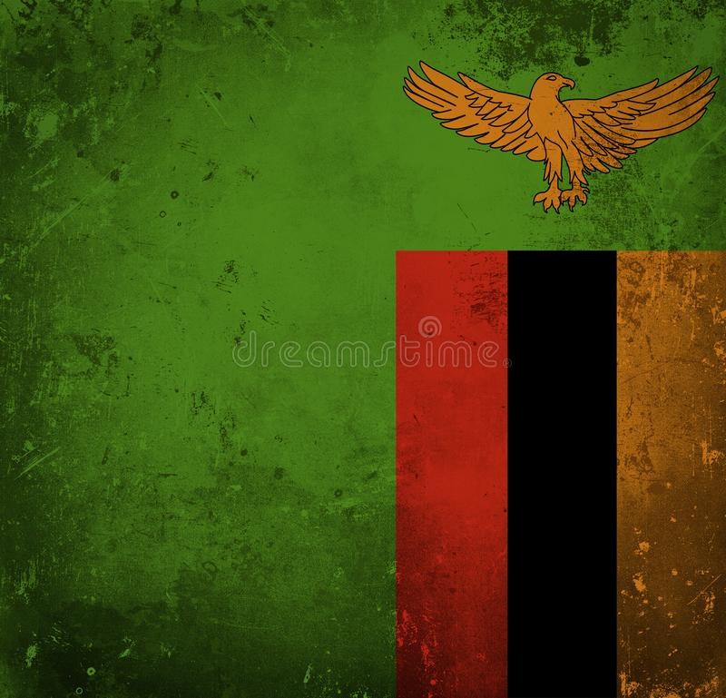 Bandera del Grunge de Zambia libre illustration