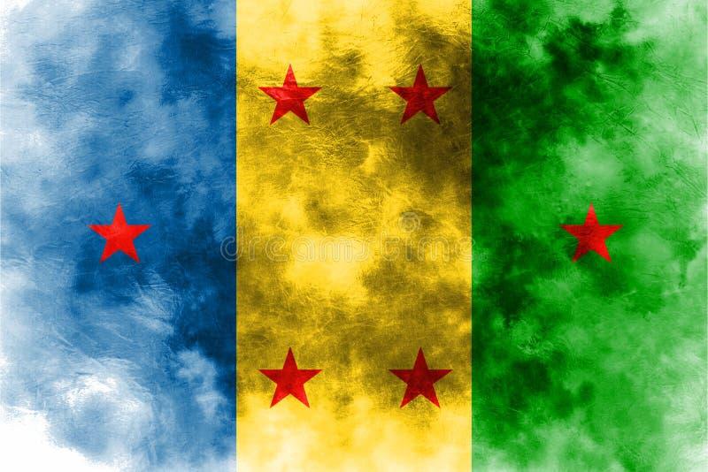 Bandera del grunge del reino de Ogoni, bandera dependiente del territorio libre illustration