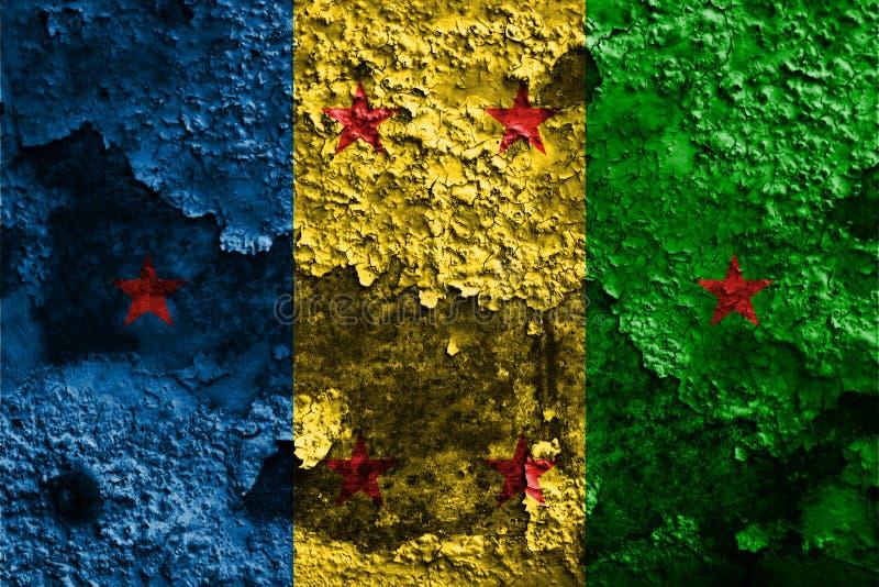 Bandera del grunge del reino de Ogoni, bandera dependiente del territorio fotos de archivo