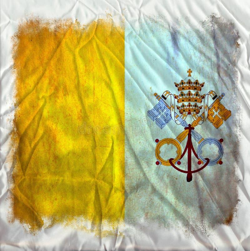 Bandera del grunge del Vaticano ilustración del vector