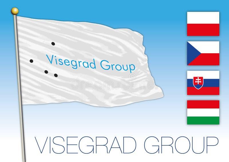 Bandera del grupo de Visegrado, Europa libre illustration
