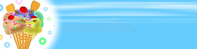 Bandera del helado stock de ilustración