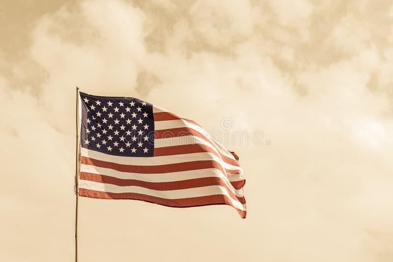 Bandera del humo del agente de los Estados Unidos de América los E.E.U.U. fotos de archivo libres de regalías