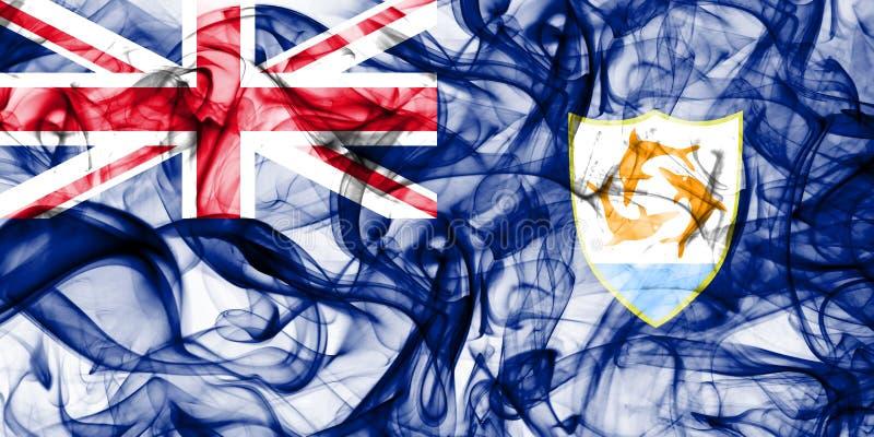 Bandera del humo de Anguila, territorios de ultramar británicos, bandera dependiente del territorio de Gran Bretaña foto de archivo