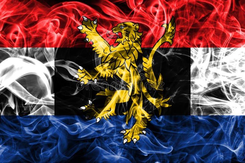 Bandera del humo de Benelux, unión politico-económica de Bélgica, inferior foto de archivo libre de regalías