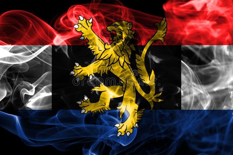 Bandera del humo de Benelux, unión politico-económica de Bélgica, inferior stock de ilustración