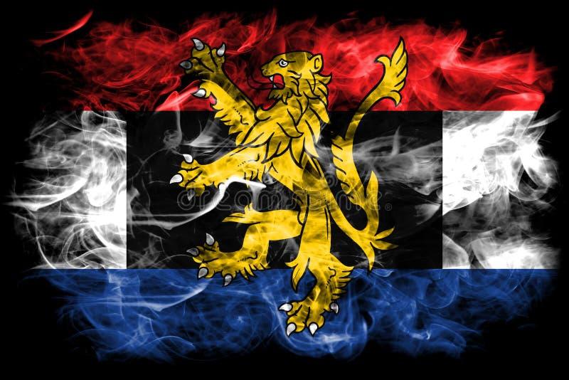 Bandera del humo de Benelux, unión politico-económica de Bélgica, inferior libre illustration